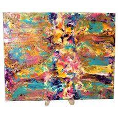 Tropical bliss original abstract painting