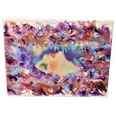 Original abstract painting Mystic Glam Girl