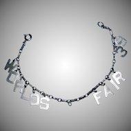 Delicate 1939 WORLDS FAIR souvenir bracelet