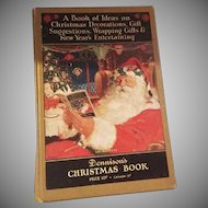 Christmas hard cover book featuring Santa Dennison Company 1926 Nice