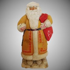 """Vintage 17""""  Santa Claus figurine/doll Paper Mache DED MOROZ MADE IN RUSSIA 1961"""