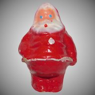 Cute vintage Papier Mache 4 ½ inch Santa Claus Candy container Mid Century