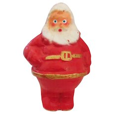 Cute vintage Paper-Mache 7 ½ inch Santa Claus Candy container Mid Century Christmas decoration - Red Tag Sale Item