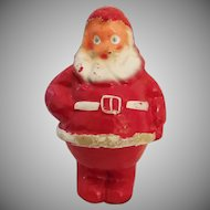 Cute vintage Paper-Mache 7 ½ inch Santa Claus Candy container Mid Century Christmas decoration