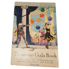 Dennison's gala book Suggestions for holidays softcover pamphlet Dennison Co.1922