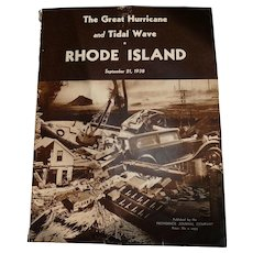 The Great Hurricane and Tidal Wave, Rhode Island: September 21, 1938 Paperback Booklet
