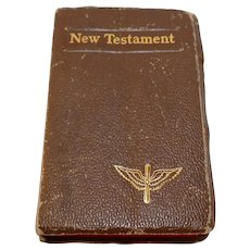 World War II Memorabilia - New Testament US Army Air Corps issue pocket bible Franklin Delano Roosevelt