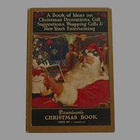 Christmas issue Dennison's Christmas Book hard cover Dennison Company 1926 Santa Cover Nice!
