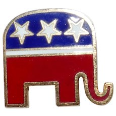 Vintage Patriotic GOP Republican National Committee pin