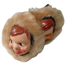Collectible Howdy Doody Fur Ear Muffs 1950s