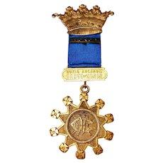 Vintage Royal Arcanum Fraternal Group Medal by the Boston Regalia Co.