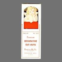 Valentine Cupid Cherub cardboard Cut outs pick decorations for deserts Dennison Co 1920s