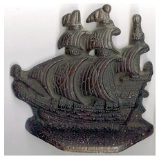 Cast iron Spanish Galleons Bookends/Door stops