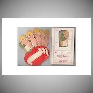 Complete set Cherub/Cupid Valentine Place cards – Dennison 1920s