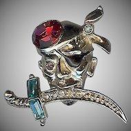 Terrific Scallywag Pirate vintage pin/brooch Coro Company