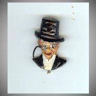 Charlie McCarthy articulated pin Coro 1937 Cute!