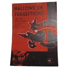 Halloween Suggestions magazine - The new Bogie Book Halloween issue Dennison Company 1931 - Red Tag Sale Item