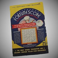 A Halloween party Fortune telling Wheel game - Fortunescope by S.S. Bloom Company 1935