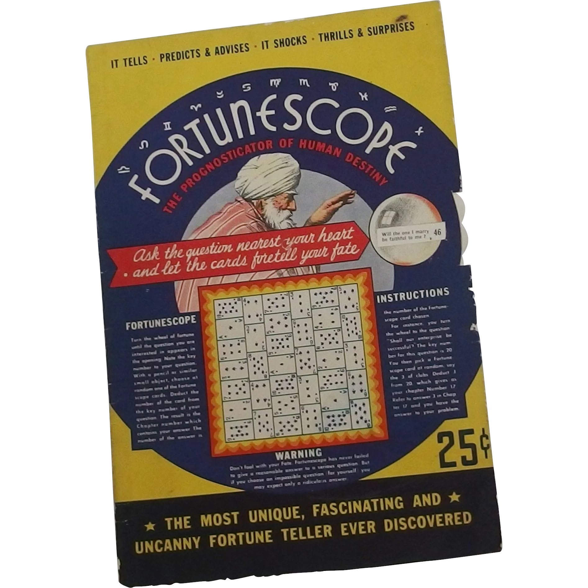 A Halloween party Fortune telling Wheel game - Fortunescope by S S  Bloom  Company 1935