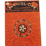 Whirl O Halloween Fortune and Stunt Game Halloween decoration Beistle Company 1950's