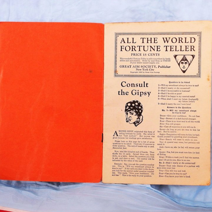 All the World Fortune Teller soft cover magazine by the Great Aim Society