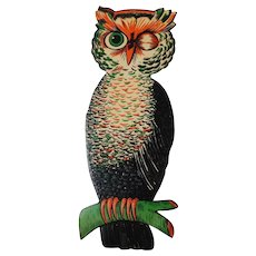 Large vintage Owl decoration Beistle Co. nice condition - Red Tag Sale Item