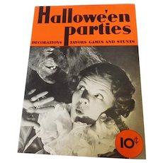 Dennison's Halloween Parties magazine 1935 Halloween issue Bogie Book
