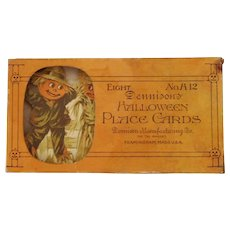 Partial boxed set of Scarecrow Couple card board Place Cards Halloween Decorations Dennison Company 1919