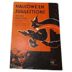 magazine - The new Bogie Book Halloween issue Dennison Company 1931