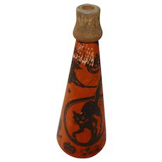 Halloween decoration – Cardboard Lithographed paper over cardboard wood tip horn 1950s