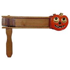 Vintage Jack-O-Lantern Pumpkin Heads - Wooden Clacker Halloween noisemaker