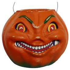 "Large size Grinning Jack 'O Lantern ""SEASONS GONE BY"" Designer Christoper James - Halloween decoration"