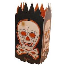 Skull & Crossbones Lantern Halloween decoration – Beistle Co. USA 1940s – 1950s