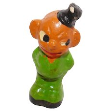 Hard to find Composition Veggie man figural Halloween decoration Germany 1930's