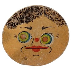 Halloween Noisemaker Squeaker Mechanical toy Cardboard lithograph Germany 1920's