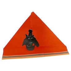 Crepe Paper Halloween Party Hat Art Deco Witch die cut Halloween Decoration