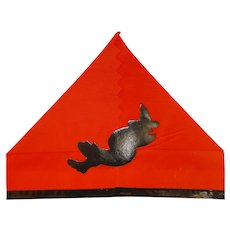 Crepe Paper Halloween Party Hat – Flying Witch die-cut Halloween Decoration 1920s - 1930s