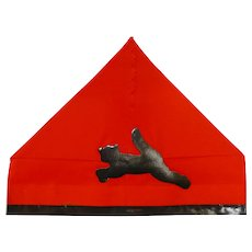 Crepe Paper Halloween Party Hat – Jumping Black Cat die-cut Halloween Decoration 1920s - 1930s