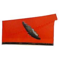 Crepe Paper Halloween Party Hat – Flying Bat die-cut Halloween Decoration 1920s - 1930s