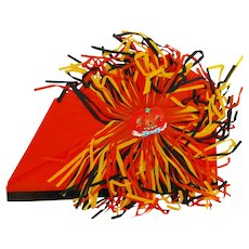 Crepe Paper Halloween Party Hat – Jack O Lantern with Festooning die-cut Halloween Decoration 1920s - 1930s