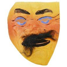 Vintage Tough Guy Mask for Halloween Buckram Muslin fabric Halloween decoration