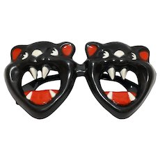 Scary Black Cat Fosta Funglasses - Halloween glasses - Foster Grant Company 1950s