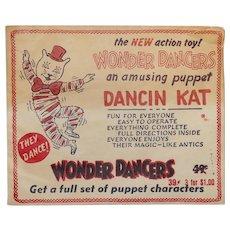 Wonder Dancer action toy Dancin Kat Halloween Decoration mid-century