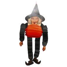Witch Dancer hanging cardboard/honeycomb Halloween decoration Beistle Company USA 1928-1937