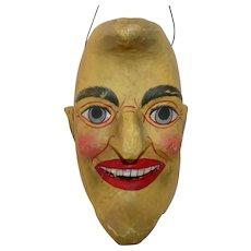 Paper Mache Crescent Moon Man Bucket/Candy Container Halloween decoration