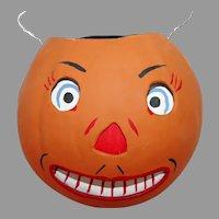 Large Jack O Lantern Head Lantern/Candy Bucket – Cottage Creations folk art - Smiths 1990