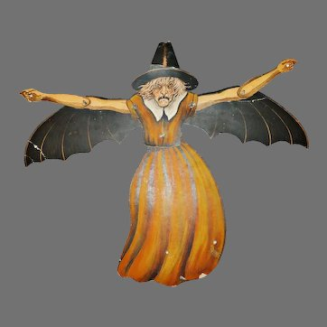 The Horrible Witch Halloween decoration Beistle Company middle 1920s Hard to find