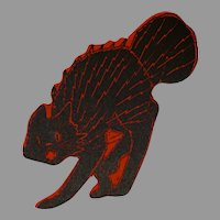 Beistle electric scratch cat Halloween Silhouette USA Beistle Company 1920s Rare Excellent
