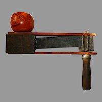 Antique Jack-O-Lantern Pumpkin Head Wooden ratchet clacker Halloween noisemaker Germany early 1900