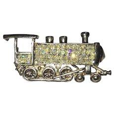 Cute Antique style Railroad Locomotive  pin/pendant Fun!